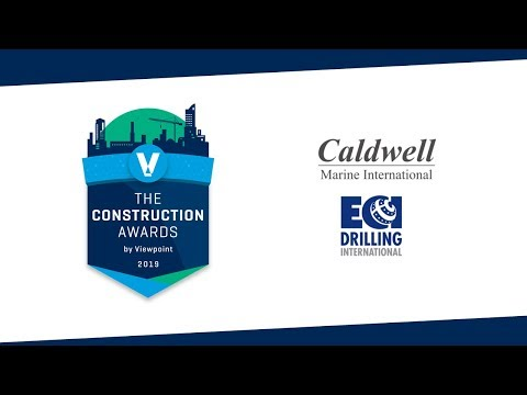 Most Challenging Project Winner - Caldwell Marine International & ECI Drilling International