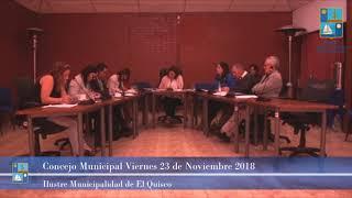 Concejo Municipal Viernes 23 noviembre 2018 - El Quisco