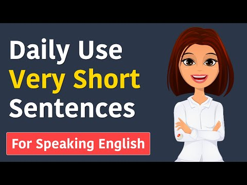 Learn 50 Daily Use English Sentences    Daily Use very short sentences for speaking English