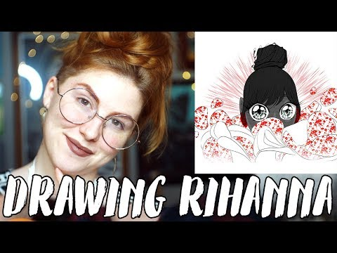Drawing Rihanna Using Clip Studio Pro // Rad Art with Beth Be Rad | SNARLED