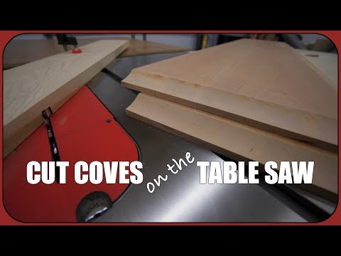 Cove Cutting on the Table Saw – How To Woodworking