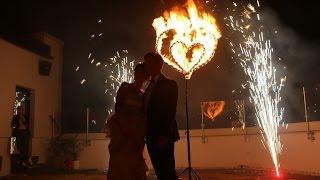 Фаер шоу на свадьбу + огненное сердце, Екатеринбург. Театр огня Притяжение.