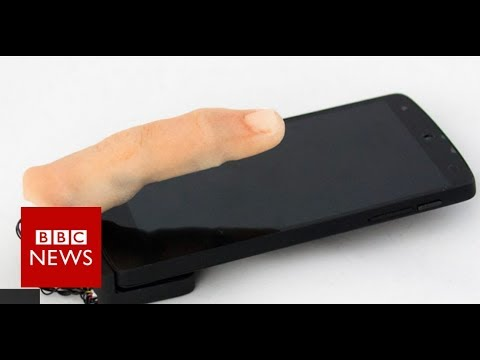 Feely finger phone crawls across desk - BBC News