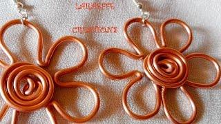 Tutorial Orecchini wire Margherita