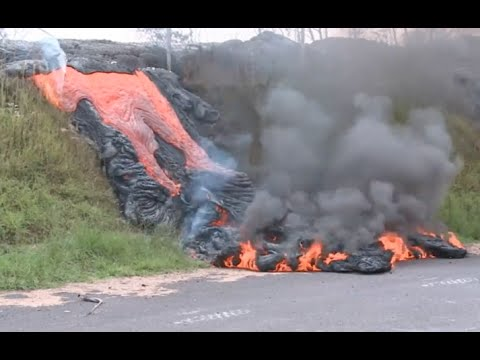 lava-flow-destroy's-house-&-enters-transfer-station---pahoa/puna