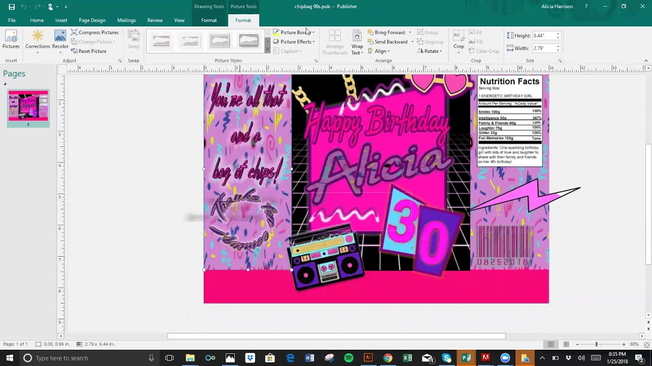 90s Style Chip Bag DIY Design Microsoft Publisher Word Mockup PowerPoint - NO Photoshop - YouTube