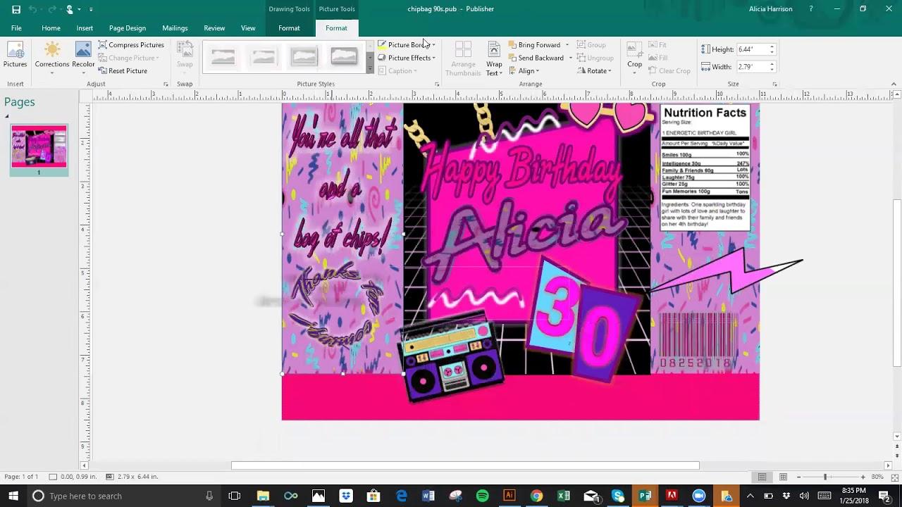 Download Diy Tutorial Chip Bag Template Publisher And Microsoft Word Youtube Diy Bags Tutorial Diy Bag Diy Photo Frames