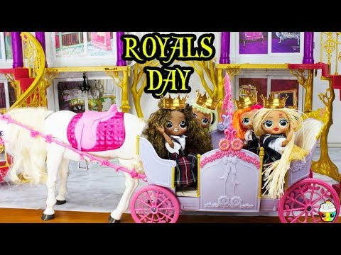 LOL OMG DOLL Family Morning Routine School Skin Disaster On Royals Day