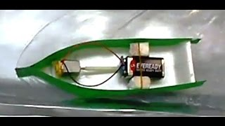 Electric Toy Boat Made Of Household Items