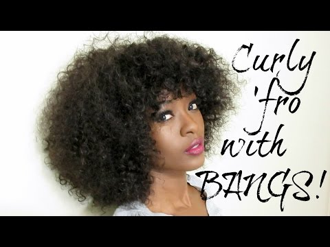 How To: Curly Afro Wig With Bangs ♥ Affordable Bohemian Hair