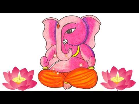 Ganpati Drawing Easy | How to draw Ganpati | Ganpati Drawing @Tiny Prints Art Academy