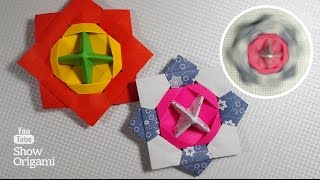 Орігамі: ВЕРТУШКА (вовчок, дзига) з паперу - динамічна іграшка з паперу
