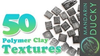 50 POLYMER CLAY TEXTURES with ball tool only - ポリマークレイ ; 폴리머 클레이(This is a video where I am showing a 15 min preview of 50 polymer clay textures and I am making them all with ball tool only. Ball tool sizes vary, but you can still ..., 2013-07-05T19:15:17.000Z)