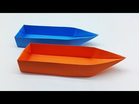 Paper Boat Making Tutorial That Floats | Origami Boat Easy Instruction For Kids