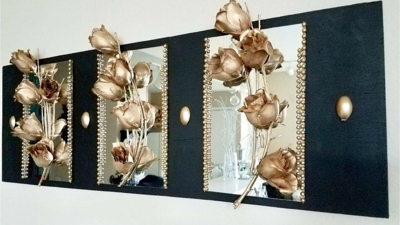 Diy Metallic Rose Mirror Home Decor