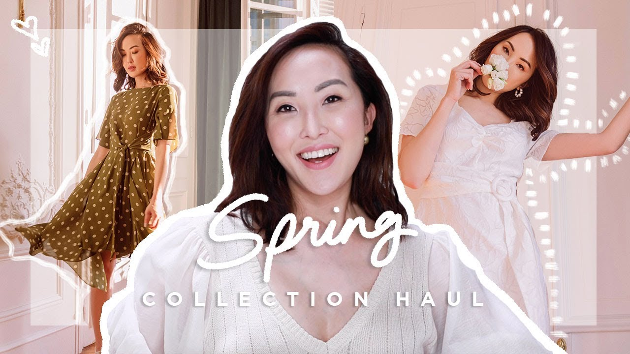 My Spring Collection Haul Try On Chriselle Lim Youtube