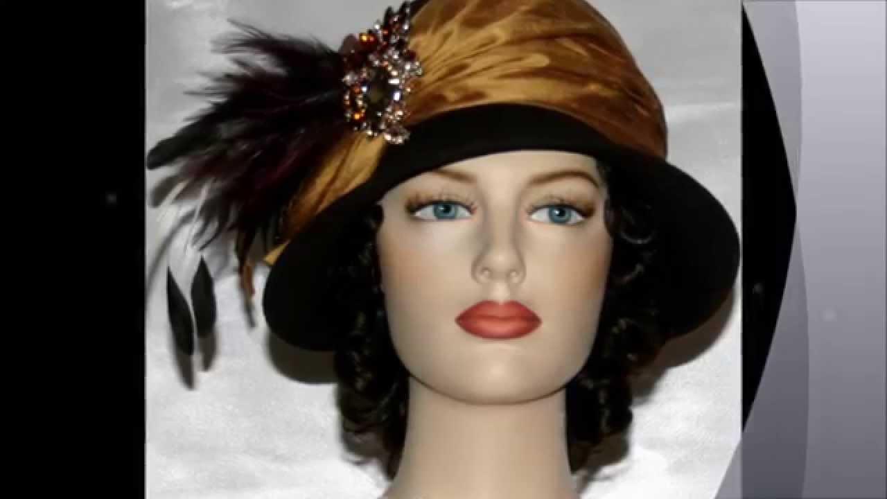 0d0b0604c2d6d9 Flapper Hat ~ Autumn Spice ~ Downton Abbey - YouTube
