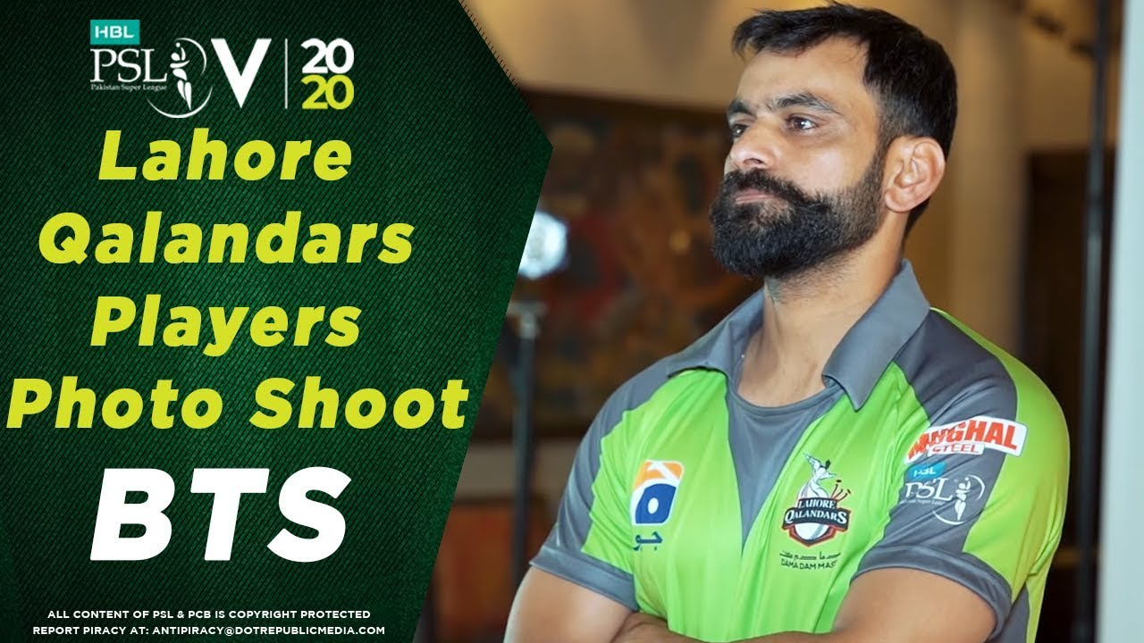 Lahore Qalandars players' photo-shoot | BTS | HBL Pakistan Super League