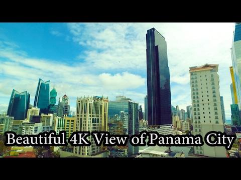 4K - Beautiful view of Panama City, Panama