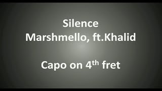 Marshmello ft. Khalid - Silence Chords & Lyrics
