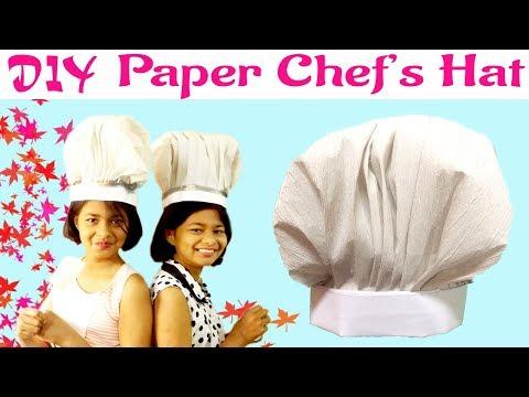 DIY Paper Chef Hat | Cook Hat Tutorial | Easy Chef's Hat | Kids Craft | Paper Hat