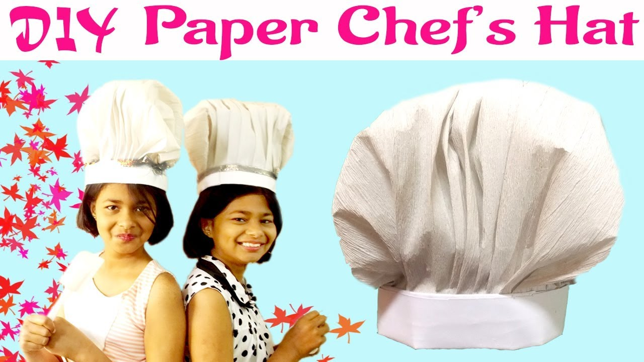 diy paper chef hat cook hat tutorial easy chef s hat kids