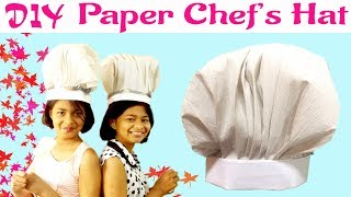 DIY Paper Chef Hat | Cook Hat Tutorial | Easy Chef's Hat | Kids Craft | Paper Hat