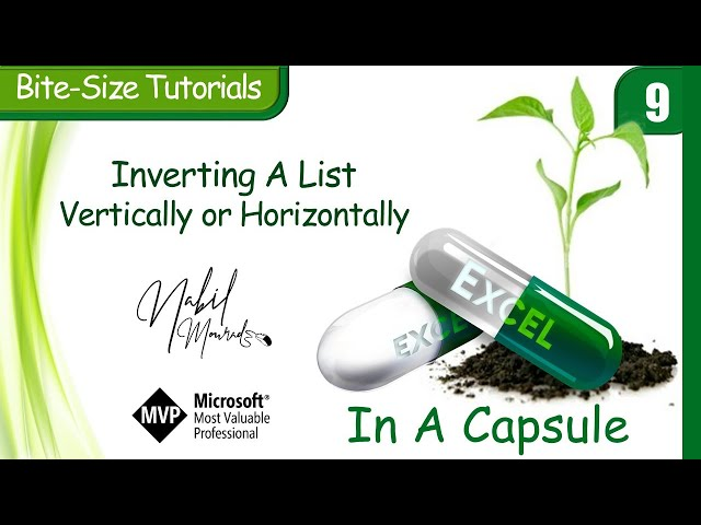 Invert A list Horizontally and Vertical Using Function- Excel In A Capsule (Episode 9)