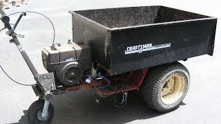Home Made Self Propelled Dump Cart Made From A Wheel Horse Tractor And Garden Cart