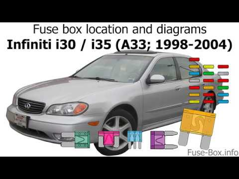 Fuse Box Location And Diagrams Infiniti I30 I35 1998 2004 Youtube
