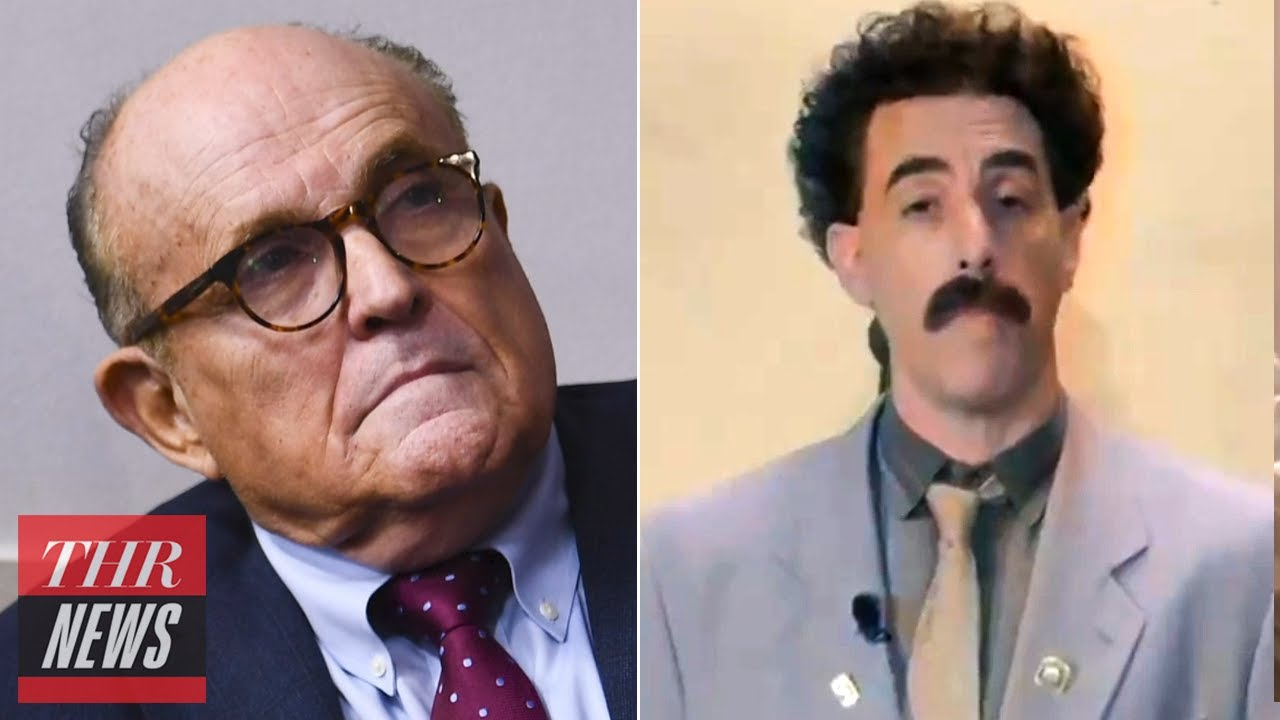 Borat Releases Message of Support for Rudy Giuliani | THR News