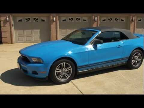 Mustang Gt Convertible For Sale >> 2011 FORD MUSTANG CONVERTIBLE GRABBER BLUE FOR SALE SEE ...