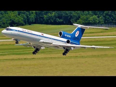 [FullHD] *Last Flight* Belavia Tupolev 154 Landing & Takeoff At Geneva/GVA/LSGG