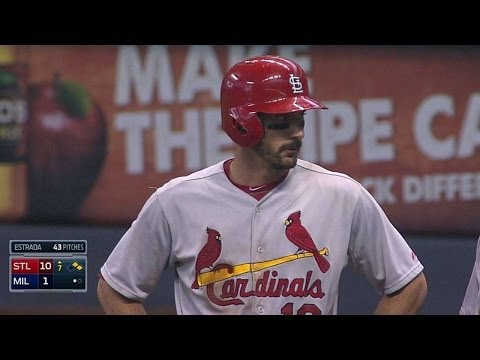 STL@MIL: Carpenter singles for Cards' 10th run