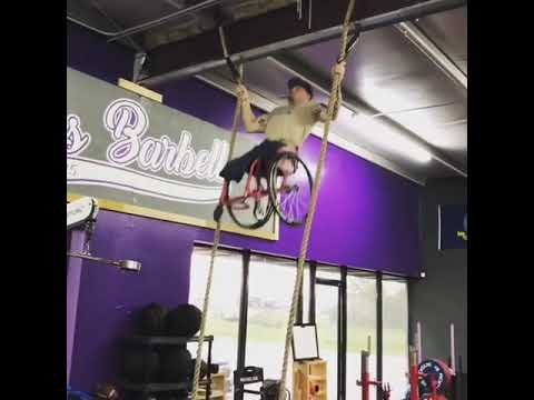 Jim Conner - Vid: Guy with No Legs Rope Pull-Ups in Wheelchair