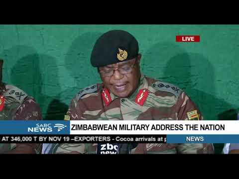 Zimbabwe military media briefing