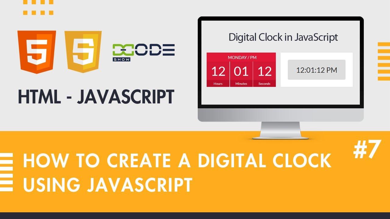 How To Make Digital Clock in JavaScript   Digital Clock in JS