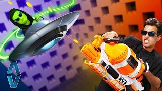 NERF Shoot Down The UFO Challenge!