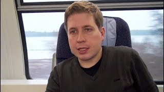 Kevin Kühnert auf Tour: Lokführer im #NoGroKo-Zug