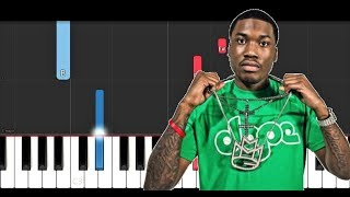 Meek Mill - Uptown Vibes ft Fabolous & Anuel AA (Piano Tutorial)