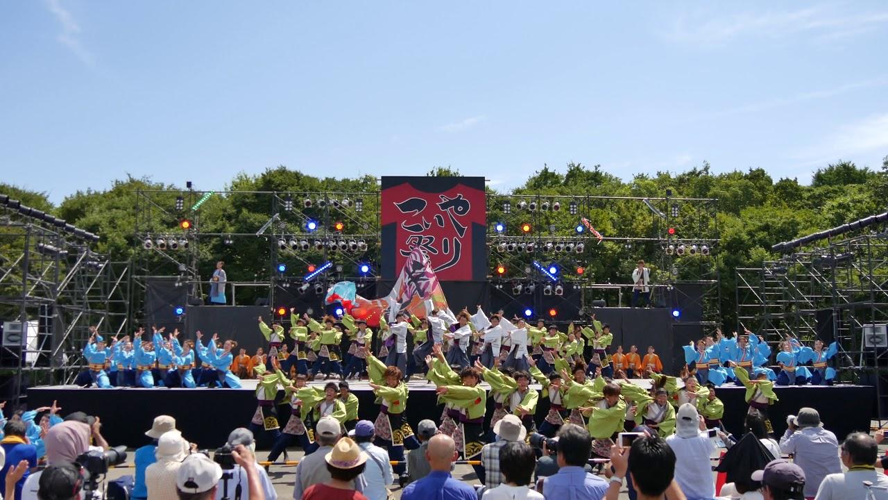 07 4K 大阪市立大学チーム朱蘭 こいや祭り2017 大阪城公園 太陽の広場会場