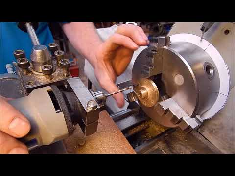 How to easily index and radially drill on a metal lathe