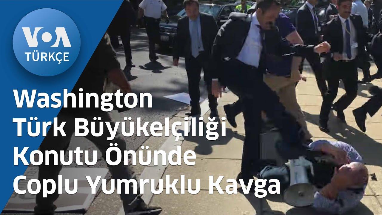 Türk Büyükelçiliği Konutu Önünde Coplu Yumruklu Kavga
