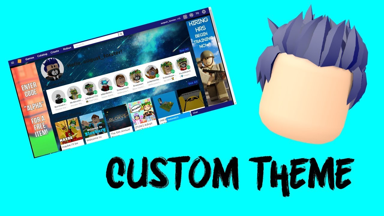 Tutorial How To Change Your Roblox Theme For Free 2019 Youtube