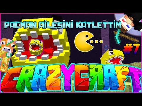 Minecraft Crazy Craft - PACMAN AİLESİNİ KATLETTİM! : Bölüm 7