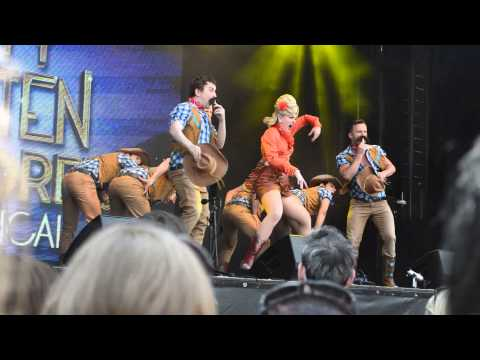 Dirty Rotten Scoundrels perform at West End Live 2014