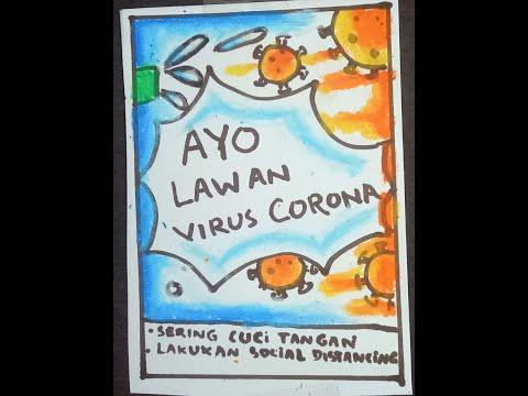 Cara Menggambar Poster Pencegahan Virus Covid 19 Mudah ...