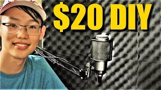 DIY | How to Make a $20 Portable Isolation Booth & Acoustic Foam Panel For Recording!