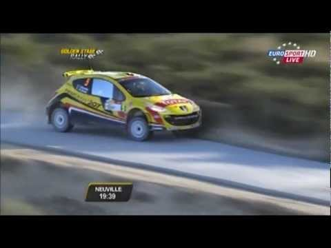 THIERRY NEUVILLE flat out on Cyprus rally golden stage