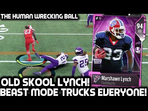 MARSHAWN LYNCH TRUCKS EVERYBODY! OLD SKOOL BEAST MODE! Madden 18 Ultimate Team